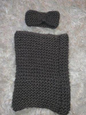 H&M Gehaakte sjaal antraciet-donkergrijs