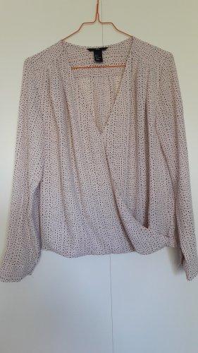 H&M schicke Bluse in Wickeloptik rosa schwarz Gr. 34