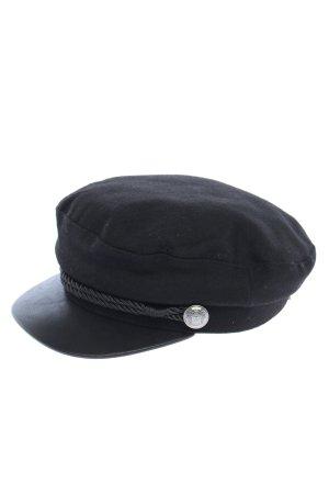 H&M Gorra de plato negro look casual
