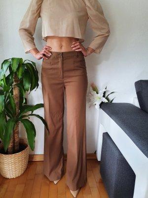 H&M Pantalon pattes d'éléphant bronze-brun