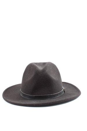 H&M Miękki kapelusz z szerokim opuszczonym rondem czarny Elegancki