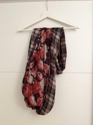 H&M Bufanda tubo marrón claro-rojo oscuro
