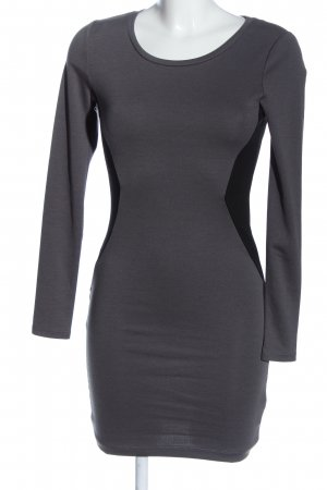 H&M Tube Dress light grey-black casual look