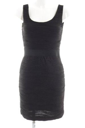 H&M Schlauchkleid schwarz Allover-Druck Elegant