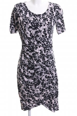 H&M Tube Dress black-natural white allover print casual look