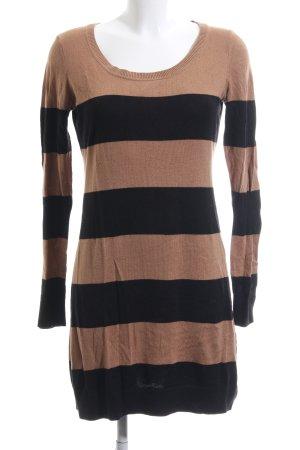 H&M Tube Dress black-brown striped pattern casual look