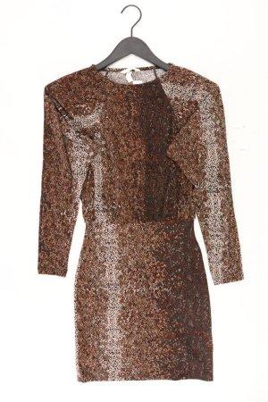 H&M Schlauchkleid Größe XS Langarm braun aus Polyester