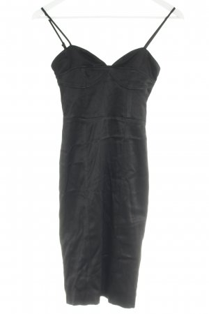H&M Tube Dress black wet-look