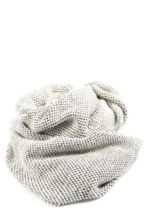 H&M Bufanda tubo blanco-negro Patrón de tejido look casual