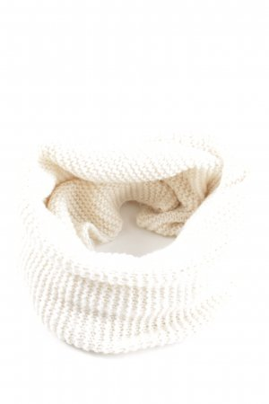 H&M Tube Scarf natural white cable stitch casual look