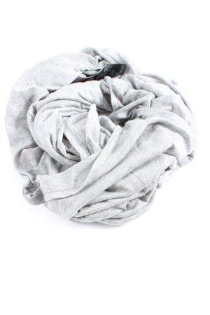 H&M Bufanda tubo gris claro moteado look casual
