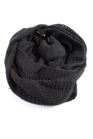 H&M Bufanda tubo negro Patrón de tejido look casual