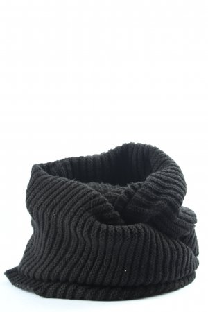 H&M Tubesjaal zwart kabel steek casual uitstraling
