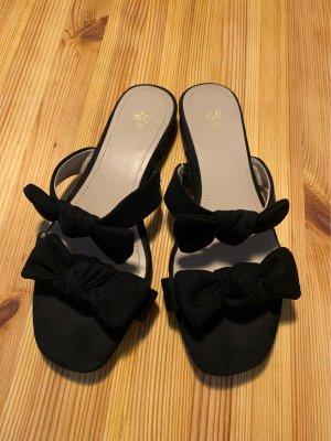 H&M Sandalen met bandjes en hoge hakken zwart