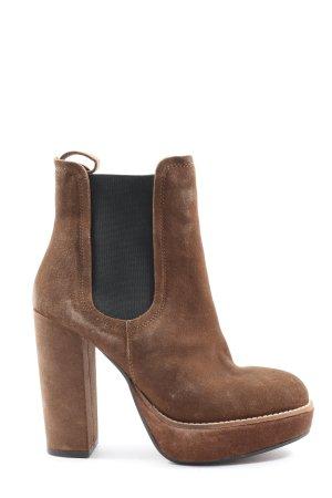 H&M Wciągane buty za kostkę brązowy-czarny W stylu casual