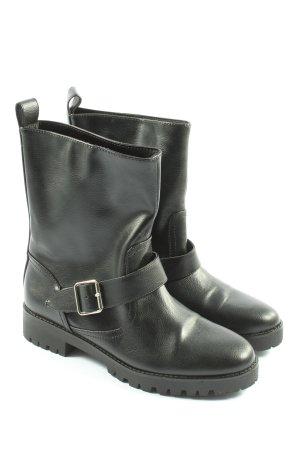 H&M Slip-on Booties black casual look