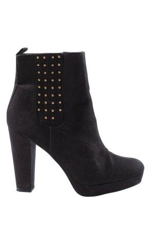 H&M Schlüpf-Stiefeletten schwarz Elegant