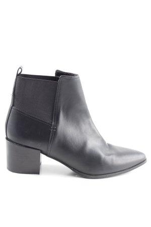 H&M Schlüpf-Stiefeletten schwarz Business-Look