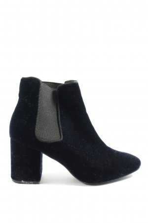H&M Schlüpf-Stiefeletten blau-hellgrau Casual-Look