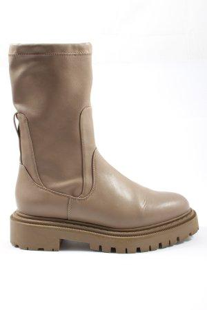 H&M Slip-on Booties brown casual look
