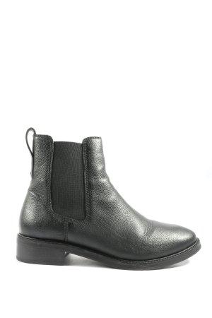 H&M Wciągane buty za kostkę czarny W stylu casual