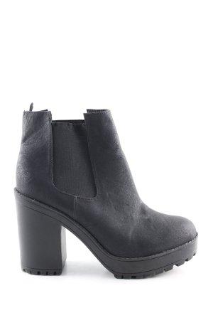 H&M Schlüpf-Stiefeletten schwarz Casual-Look