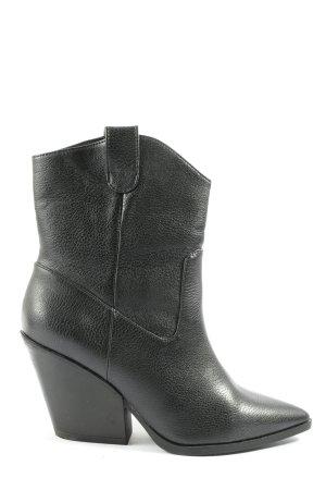 H&M Wciągane buty za kostkę czarny W stylu biznesowym