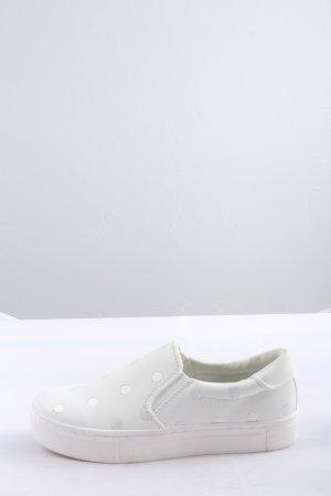 H&M Schlüpfschuhe weiß Punktemuster Casual-Look