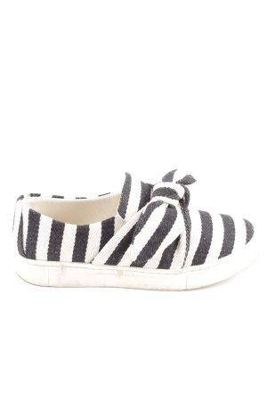 H&M Schlüpfschuhe schwarz-weiß Streifenmuster Casual-Look