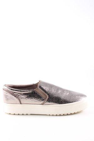 H&M Schlüpfsneaker silberfarben-braun Casual-Look