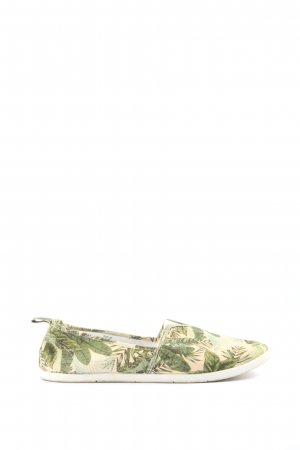 H&M Slip-on Sneakers natural white-khaki flower pattern casual look