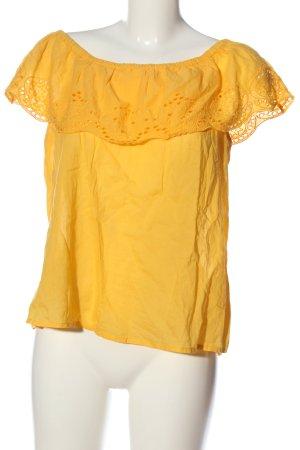 H&M Schlupf-Bluse blassgelb Casual-Look