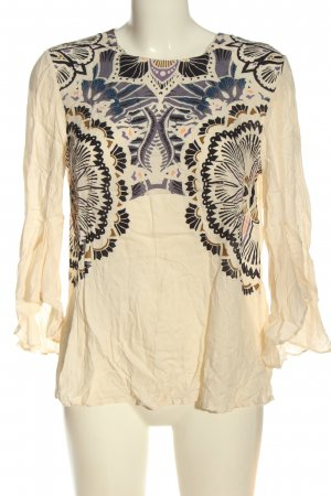 H&M Schlupf-Bluse grafisches Muster Casual-Look