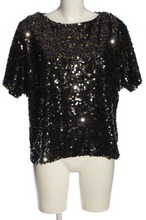 H&M Schlupf-Bluse schwarz Elegant