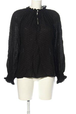 H&M Schlupf-Bluse schwarz Punktemuster Casual-Look