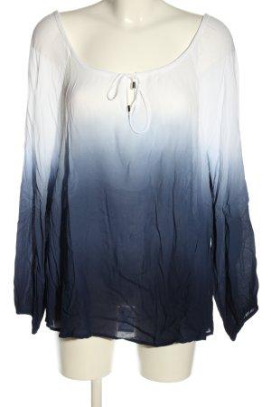 H&M Camicetta da notte bianco-blu Colore sfumato stile casual