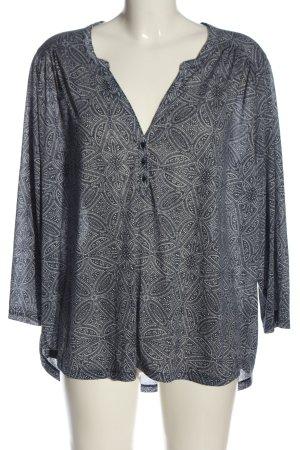 H&M Schlupf-Bluse schwarz-weiß Allover-Druck Casual-Look