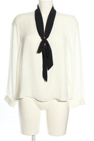 H&M Schlupf-Bluse weiß-schwarz Business-Look