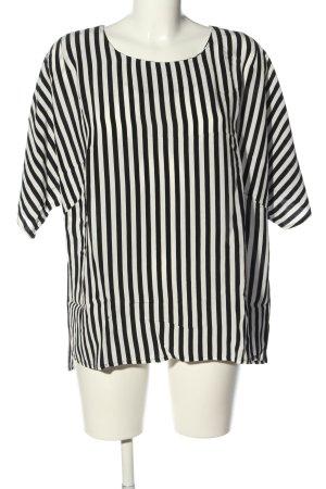 H&M Schlupf-Bluse schwarz-weiß Streifenmuster Casual-Look