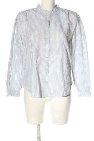 H&M Schlupf-Bluse hellgrau-weiß Allover-Druck Business-Look