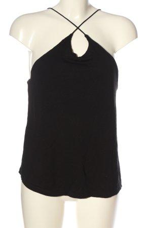 H&M Schlupf-Bluse schwarz Casual-Look