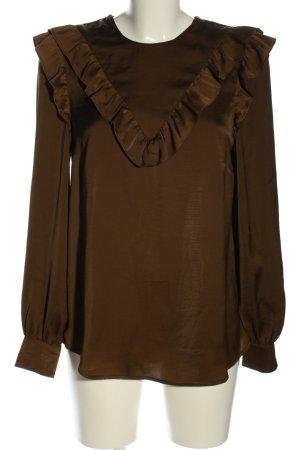 H&M Schlupf-Bluse braun Casual-Look