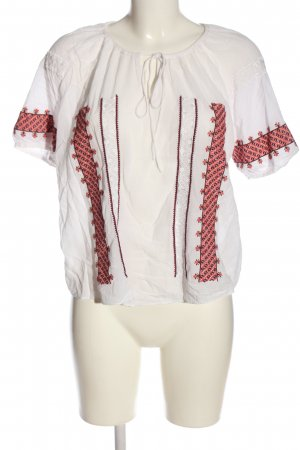 H&M Slip-over Blouse white-red casual look