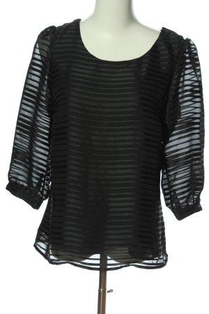 H&M Schlupf-Bluse schwarz Streifenmuster Casual-Look