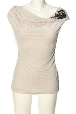 H&M Schlupf-Bluse weiß-schwarz abstraktes Muster Casual-Look