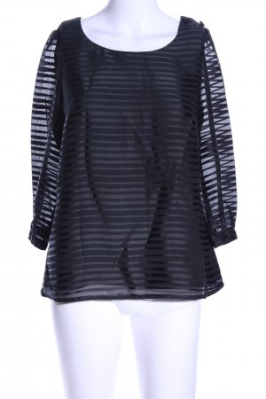 H&M Schlupf-Bluse schwarz Streifenmuster Elegant