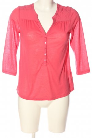 H&M Schlupf-Bluse rot Zopfmuster Casual-Look