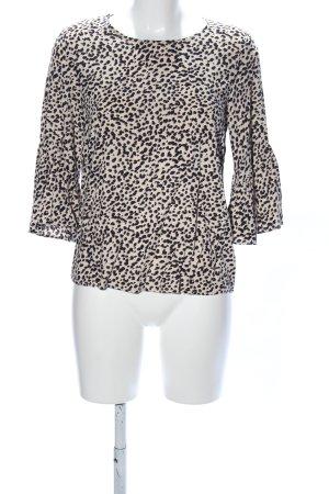 H&M Blusa caída crema-negro estampado repetido sobre toda la superficie