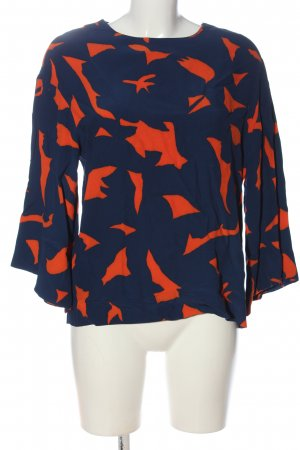 H&M Schlupf-Bluse blau-rot Casual-Look