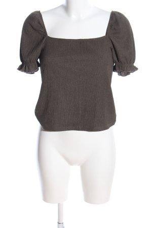 H&M Schlupf-Bluse braun meliert Business-Look